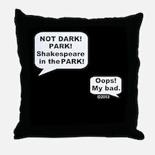 Shakespeare in the Dark Throw Pillow