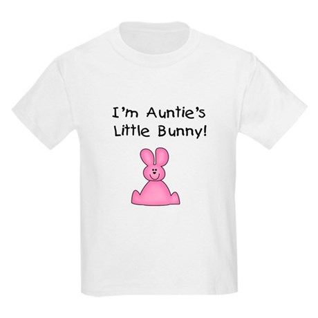 Auntie's Little Bunny (pink) Kids T-Shirt