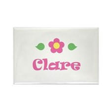 """Pink Daisy - """"Clare"""" Rectangle Magnet"""