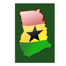 """""""Ghana Bubble Map"""" Postcards (Package of 8)"""
