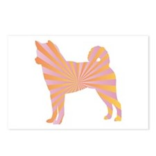 Shiba Inu Rays Postcards (Package of 8)