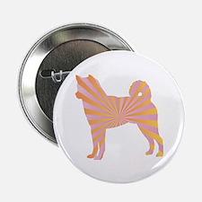 "Shiba Inu Rays 2.25"" Button (100 pack)"