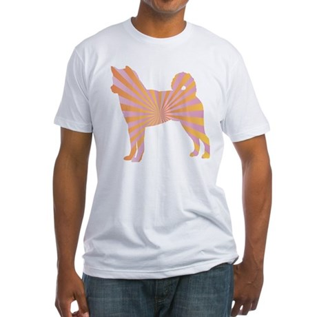 Shiba Inu Rays Fitted T-Shirt