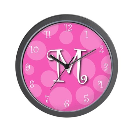 """initial """"m"""" Wall Clock"""