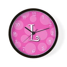 """initial """"l"""" Wall Clock"""