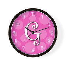 """initial """"g"""" Wall Clock"""
