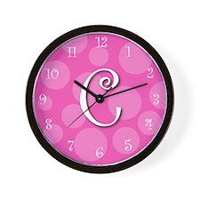 """initial """"c""""  Wall Clock"""