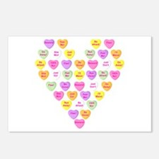 Curmugeon Candy Hearts<br> Postcards (Package of 8