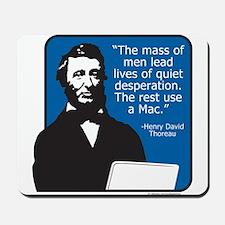 Thoreau Mac Mousepad