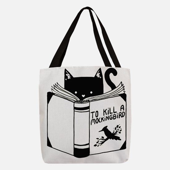 To Kill A Mockingbird Cat Readi Polyester Tote Bag