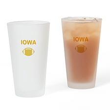 Hawkeye Football Drinking Glass