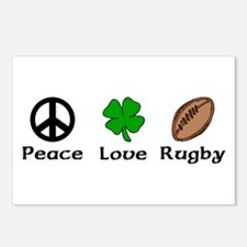 Peace Love Rugby Irish Postcards (Package of 8)