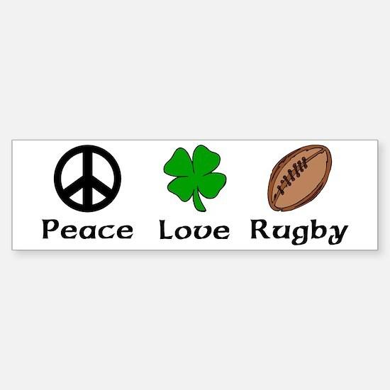 Peace Love Rugby Irish Bumper Bumper Bumper Sticker