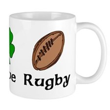 Peace Love Rugby Irish Mug