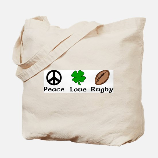 Peace Love Rugby Irish Tote Bag