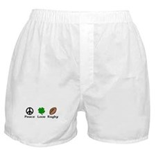 Peace Love Rugby Irish Boxer Shorts
