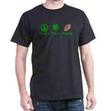 Peace Love Rugby Irish T-Shirt
