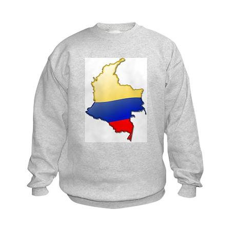 """""""Colombia Bubble Map"""" Kids Sweatshirt"""