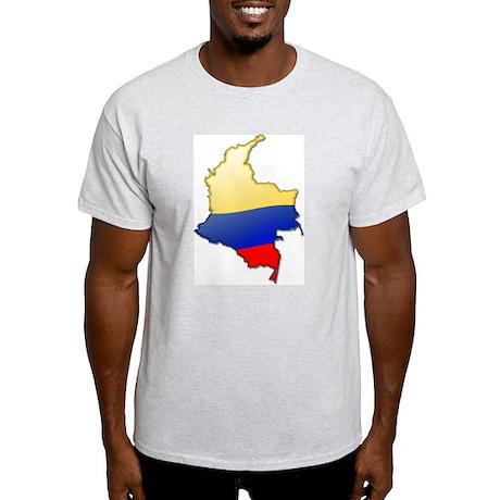 """Colombia Bubble Map"" Light T-Shirt"