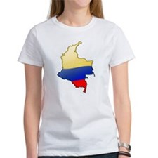 """Colombia Bubble Map"" Tee"