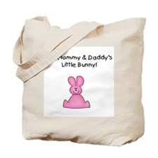 Mommy & Daddy's Bunny (pink) Tote Bag