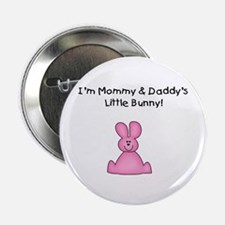 Mommy & Daddy's Bunny (pink) Button