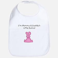 Mommy & Daddy's Bunny (pink) Bib
