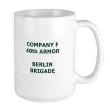 40th Armor Company F Large Coffee Mug