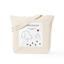 Veterinarian-My Patients Leave Paw Prints Tote Bag