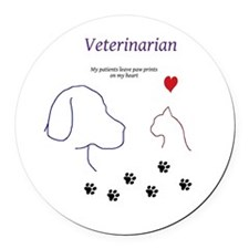 Veterinarian-My Patients Leave Pa Round Car Magnet