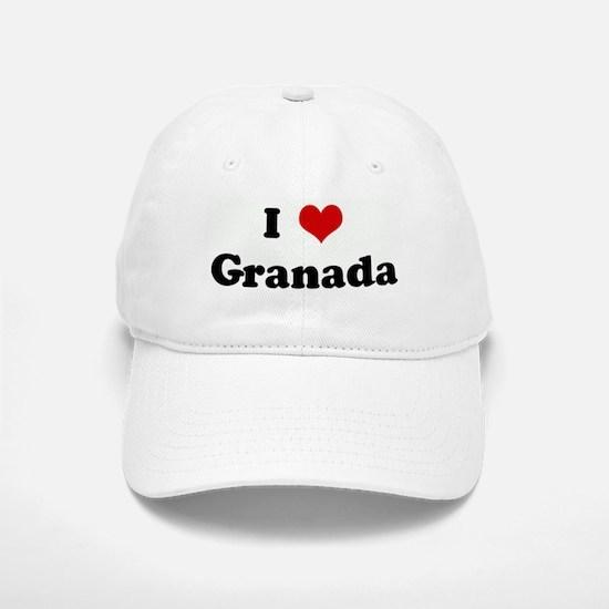 I Love Granada Baseball Baseball Cap