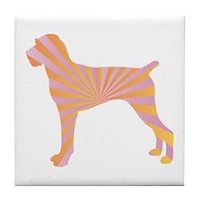 Pointer Rays Tile Coaster