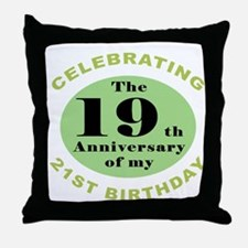 Funny 40th Birthday Throw Pillow