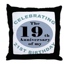 Funny 40th Birthday Throw Pillow