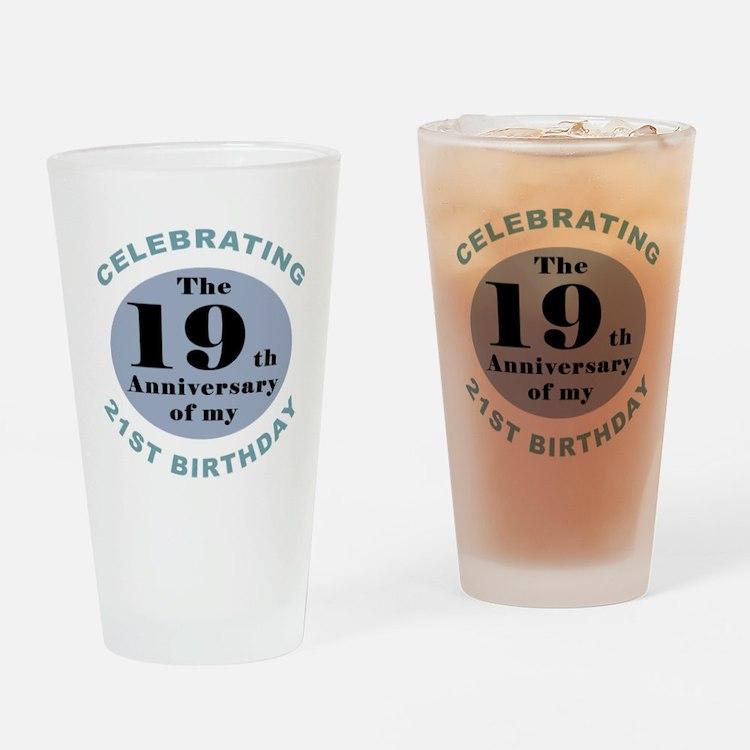 Funny 40th Birthday Drinking Glass