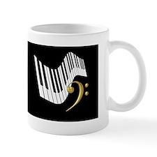 Keyboard & Treble Clef Gold Mug