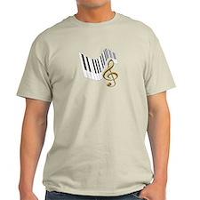 Keyboard & Treble Clef Gold T-Shirt