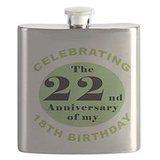 Funny 40th Birthday Flask
