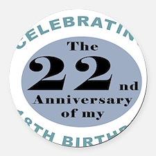 Funny 40th Birthday Round Car Magnet