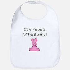 Papa's Little Bunny (pink) Bib
