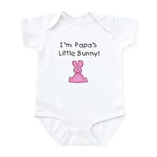 Papa's Little Bunny (pink) Infant Bodysuit