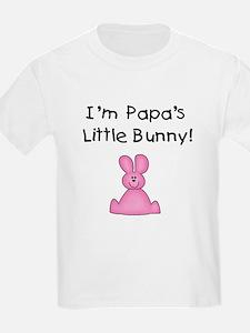 Papa's Little Bunny (pink) Kids T-Shirt
