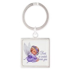Angel sent to watch over you Square Keychain