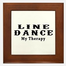 Line Dance My Therapy Framed Tile