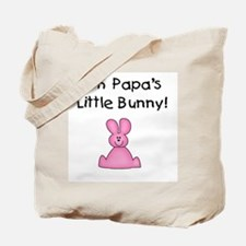 Papa's Little Bunny (pink) Tote Bag