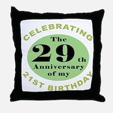 Funny 50th Birthday Throw Pillow