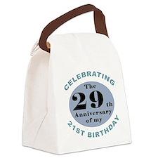 Funny 50th Birthday Canvas Lunch Bag