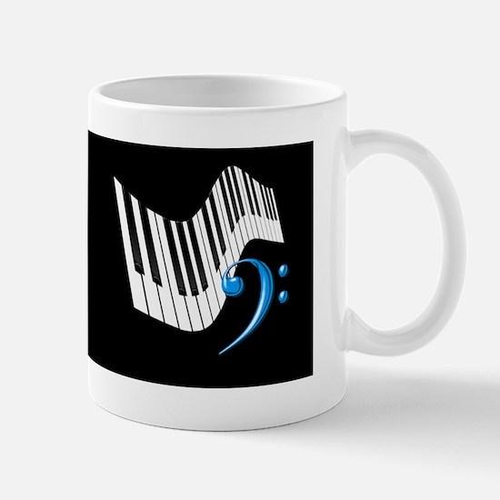 Keyboard & Treble Clef Blue Mug