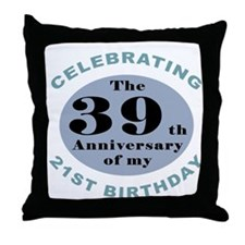 Funny 60th Birthday Throw Pillow