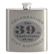 Funny 60th Birthday Flask